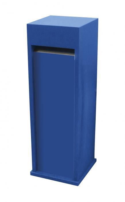 Blauwe brievenbus
